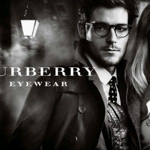Couple wearing Burberry Glasses