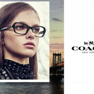 Black and minimal Coach Glasses campaign
