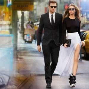 Couple wearing DKNY Glasses