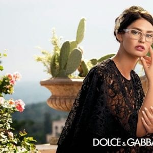 Woman wearing nude Dolce & Gabbana Glasses