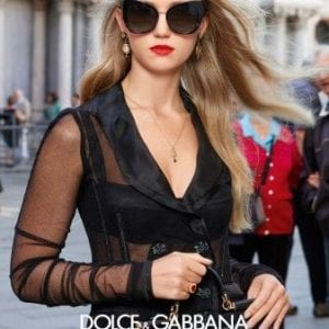 Wide cat eye Dolce & Gabbana Glasses