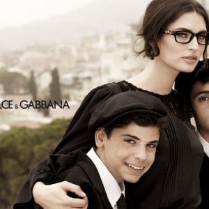 Family wearing Dolce & Gabbana Glasses