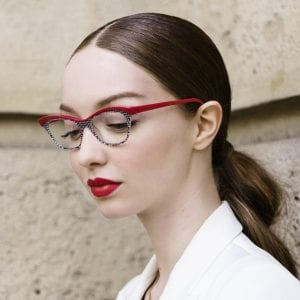 Woman wearing red Face a Face Glasses
