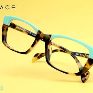 Turquoise Face a Face Glasses