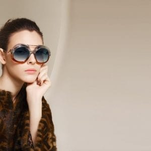 Stylish aqua and copper Fendi Glasses