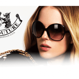 Oversized Juicy Couture Glasses campaign