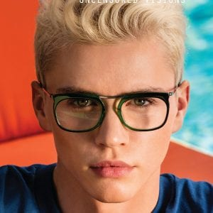 L.A. Eyeworks Glasses young blonde man