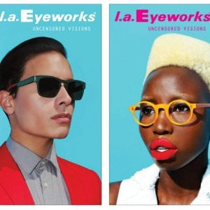 L.A. Eyeworks Glasses teal campaign