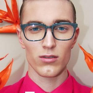 L.A. Eyeworks Glasses young man disco style