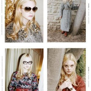 Marc Jacobs Glasses with elle fanning