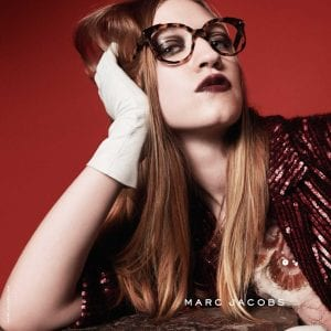 Marc Jacobs Glasses with red and gloves