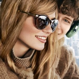 Helicopter tour wearing Michael Kors Glasses