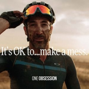 cyclist wearing Oakley Glasses