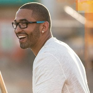 Young man wearing Oakley Glasses