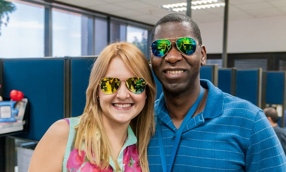 Couple wearing Ray Ban Glasses