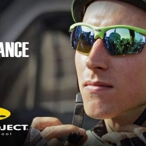 An athlete wearing Rudy Project glasses