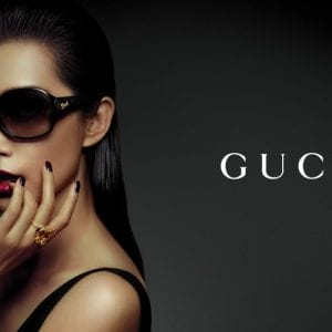 Woman wearing gucci glasses