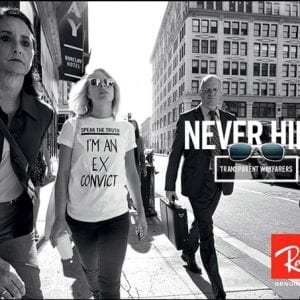 Never hide ray ban glasses