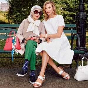 old and young Kate Spade Glasses campaign