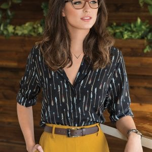 Stylish woman wearing fysh glasses