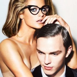 Woman wearing tom ford glasses