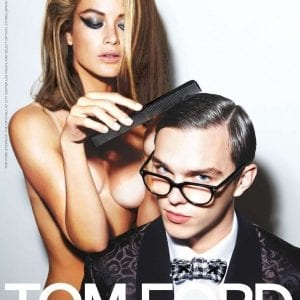 Man wearing tom ford glasses