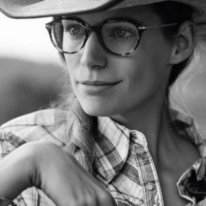 Cowboy wears Georgio Armani Glasses