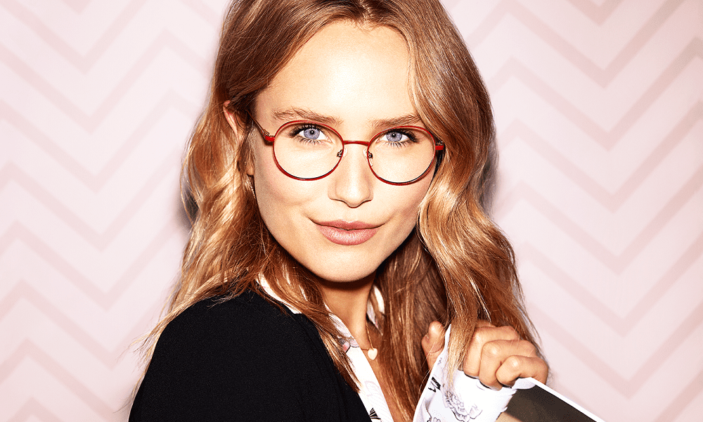 Woman wearing Candies glasses