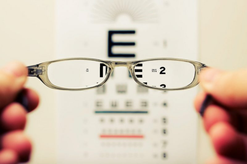 Walk-In Eye Clinic Test with glasses